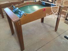 Mesa de Tamancobol Outdoor Furniture, Outdoor Decor, Attic, Bench, Table, Home Decor, Billiards Pool, Small Bench, Houses