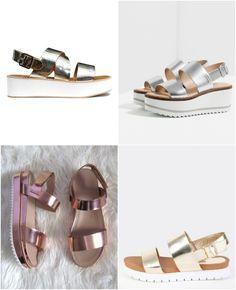 A sandália da vez é a flatform. Veja como usar esse modelo e ainda sair super fashion. Ajuda se optar pelas versões metalizadas, que são mais moderninhas.