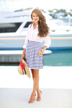 Love this nautical outfit… would be perfect for July 4th also www.southerncurlsandpearls.com