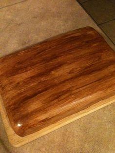 Wood painted fondant cake
