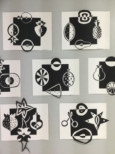 Positive/Negative space stredoškolské umenie, middle school art, umelecké p Middle School Art, Art School, High School, Art Positif, Notan Art, Negative Space Art, Classe D'art, 7th Grade Art, Creation Art