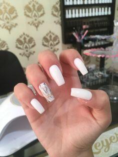 Nails, Beauty, White Nail Designs, Square Nails, Sculpted Nails, Finger Nails, Ongles, Beauty Illustration, Nail