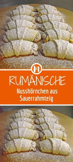Romanian nutmeg from sour cream dough - Kleingebäck - Kuchen Cereal Recipes, Snack Recipes, Cooking Recipes, Beef Liver, Good Food, Yummy Food, How To Treat Anxiety, Party Buffet, Everyday Food
