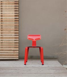 Nils Holger Moormann – Pressed Chair Harry Thaler 2011 new colours. Single Sheets, Interior Decorating, Colours, Red, Inspiration, Depression, Metal, Home Decor, Silver