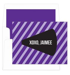 Purple Cheer Foldover Note Cards