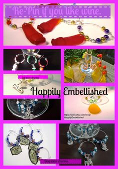 $12.99 all kinds of wine glass charms. All handmade. https://www.etsy.com/shop/HappilyEmbellished