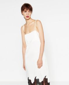 Image 2 of DRESS WITH LACE TRIM from Zara