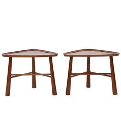 Pair of Edmund Spence Stools or Ottomans   From a unique collection of antique and modern stools at https://www.1stdibs.com/furniture/seating/stools/