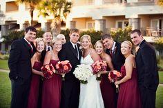 Elegant Red Ballroom Wedding