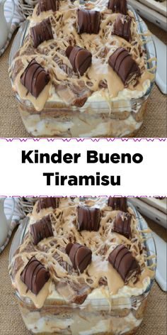 Zutaten 300 ml Haselnusscreme 300 ml Nutella 6 Kinder bueno 600 g loffelbiskuits… - My CMS Raw Food Recipes, Sweet Recipes, Baking Recipes, Cake Recipes, Dessert Recipes, Sweet Desserts, Delicious Desserts, Yummy Food, Gateau Harry Potter