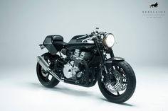 Brutal! Honda CB750 #CafeRacer by Rebellion. Toda una bicha para rodar y no parar ¡Gas! www.caferacerpasion.com