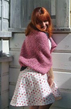 oversize crochet shrug ... style post