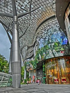 Lovely architecture of ION , a huge shopping mall in Orchard , Singapore
