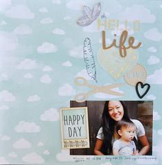 Oh Hello Life by Amy Tangerine using her  New Stitched Collection for Simon Says stamp.  October 2014