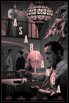 ► Casablanca de Michael Curtiz ► By: Rory Kurtz Illustration Classic Movie Posters, Movie Poster Art, Poster S, Classic Movies, Old Movie Posters, Poster Design Movie, 80s Posters, Protest Posters, Rock Posters