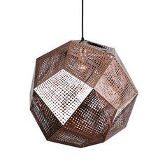 Honeycomb Pendant in Copper