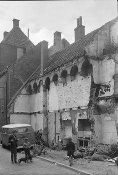 Stadsmuur, Waterstraat - Zwolle, Juni 1962
