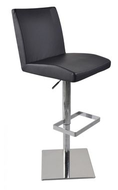 Modrest T-1068CN Modern Black Eco-Leather Bar Stool VGCBT1068CN-BLKProduct:16171 Features:BlackEco-LeatherStainless Steel Swivel Base With FootrestAdjustable Seat HeightDimensions:Stool : W17