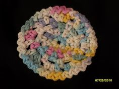 Cynthias Cynfully Spiffy Stuff: Fun And Easy - Free Pattern - Crocheted Face Scrubbies