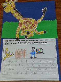 Classroom Freebies Too: Literature Link - Giraffes Can't Dance Freebie