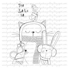 Tra La La by alldressedupstamps on Etsy, £2.50