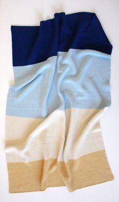 100% cotton knit baby blanket in navy, sky blue, ivory, yellow   koko's nest