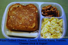 Kids went NUTS! Pizza grilled cheese for school lunch