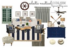 Eclectic Nautical Living Room