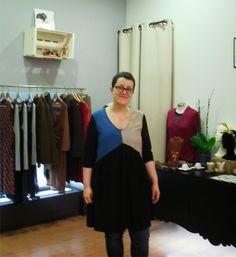 Iria Rapaza Ela Diz, dress by Malahierba Atelier