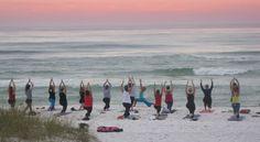 Destin Beach Yoga!