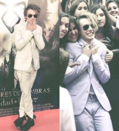 Jamie Campbell bower at the TMI premiere