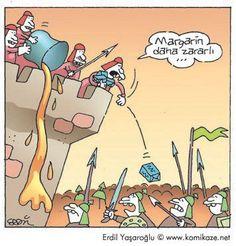 Margarin daha zararlı...  #karikatür #mizah #matrak #komik #espri: