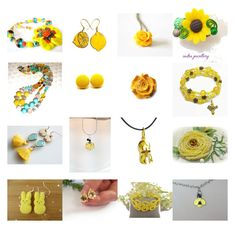 """""""Yellow Jewelry on Etsy"""" by kateduvall ❤ liked on Polyvore featuring Antigua, modern and contemporary"""