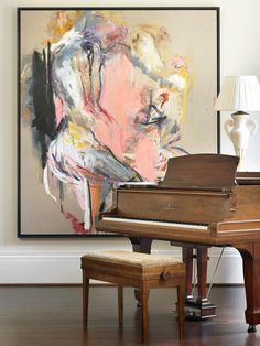Painting by Karen Schwartz.     Beth Webb Interiors