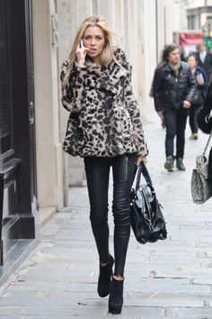 Abbey Clancy always has her style to a tee