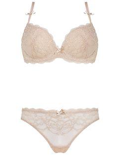179fee26c Burvogue See Through Embroidery Padded Push Up Lace Bra   Panty Sets  Lingerie Bonita