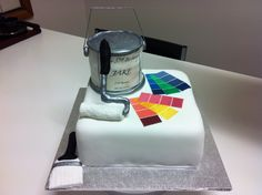Birthday cake for a house painter