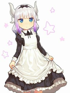 [Kawaii]Maid Kanna [Kobayashi-san Chi no Maid Dragon] Miss Kobayashi's Dragon Maid, Dragon Girl, Cute Anime Pics, I Love Anime, Lolis Neko, Kanna Kamui, Steven Universe Oc, Kobayashi San Chi No Maid Dragon, Anime Maid