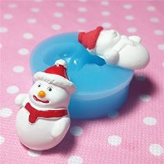 Christmas Snowman Fondant Silicone Mold Polymer Clay by UIE on Amazon
