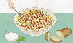 Qui diu que les amanides són avorrides? Aquesta recepta ho desmenteix: amanida de quinoa amb pollastre, alvocat, mango i formatge feta.