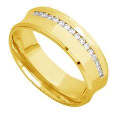 b609b8de40b Aliança de Casamento Anatômica com Certificado 18 K e Garantia de Qualidade  Joiasgold