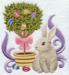 Machine Embroidery Library. Love the vintage easter embroidery designs.  Must buy.