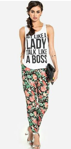 Act like a lady, talk like a boss top