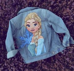 Customised Denim Jacket, Painted Denim Jacket, Painted Jeans, Custom Painted Shoes, Hand Painted Shoes, Painted Clothes, Jeans West, Disney Outfits, Kids Outfits