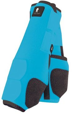 bell boots for horses | Classic Equine Legacy Boots - Front - Medium - Turquoise Overview