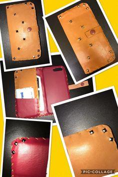 Custodia per cellulare in Pelle cucita a mano ! Disponibile per tutti i modelli di smartphone e in tutti i colori! 😄