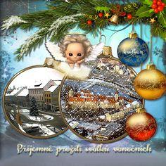 Vánoční přání « Rubrika | Blog u Květky Christmas Bulbs, Merry Christmas, Blog, Holiday Decor, Merry Little Christmas, Christmas Light Bulbs, Happy Merry Christmas, Blogging