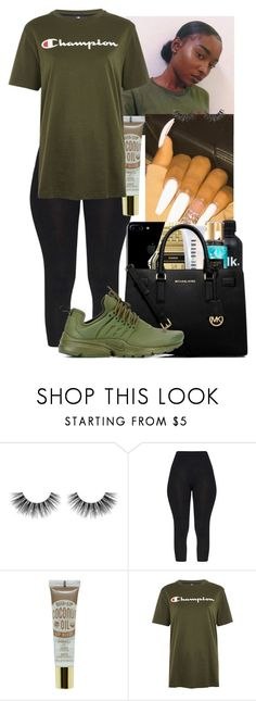 """Untitled #38"" by kyadadoll3 ❤ liked on Polyvore featuring Velour Lashes, Champion and NIKE"