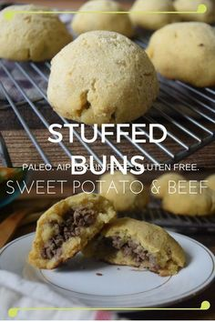 Allergen Friendly, AIP, Paleo Sweet Potato Buns filled with ground beef!