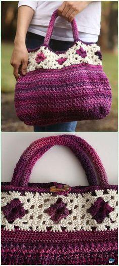 Crochet Handbag Free Patterns & Instructions | Patronen, Taschen und ...